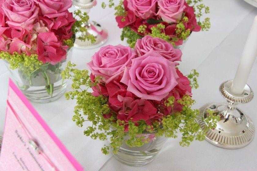 Kommunionsfeier für ein Mädchen, festlich in rosa und pink - Tischlein deck dich