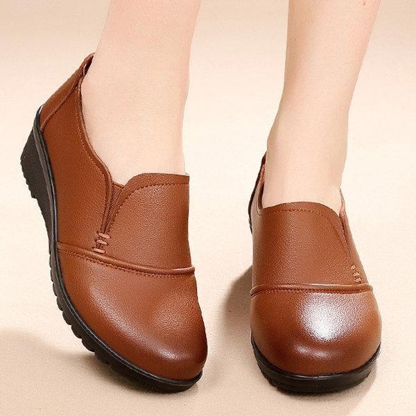 10438cb9c195 Pure Color Wedges Soft Sole Work Women Shoes ekkor: 2019   cipo