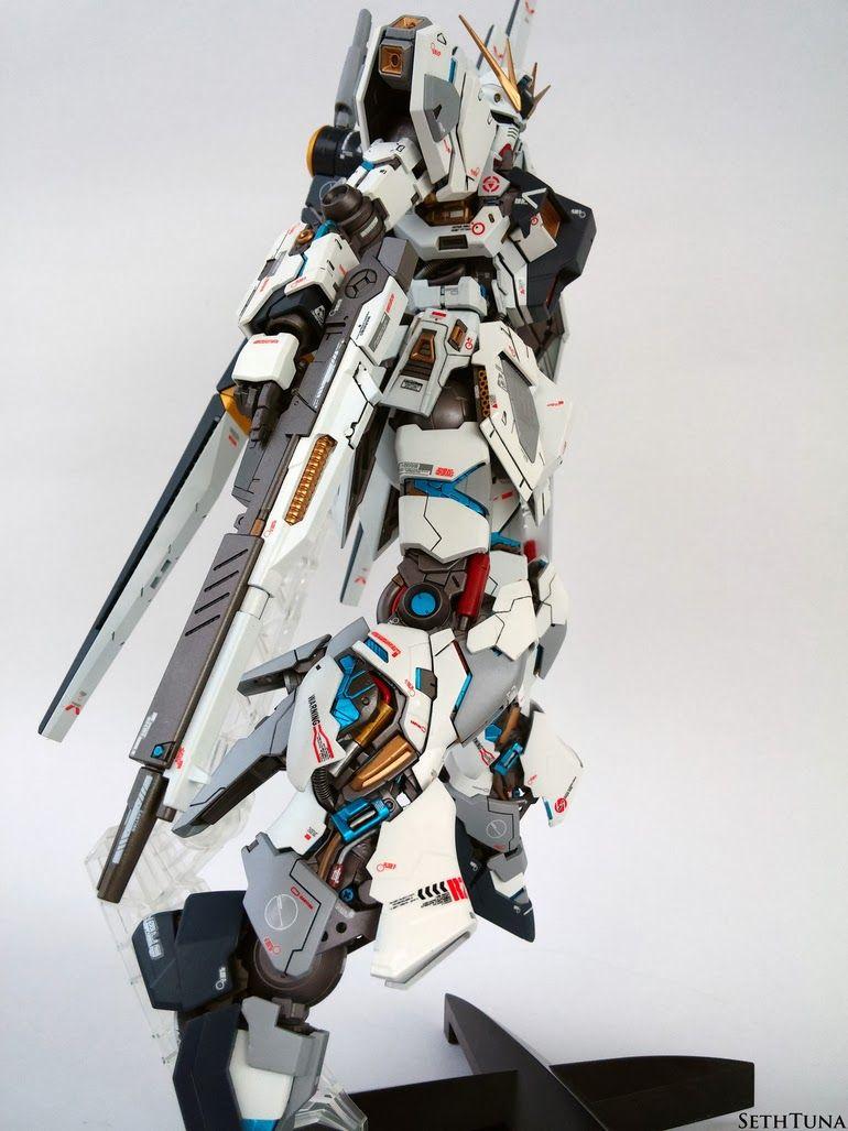 GUNDAM GUY: MG 1/100 RX-93 Nu Gundam Test Type - Painted Build