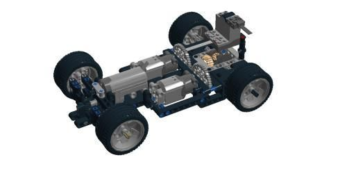 LEGO Set MOC-5217 RC chassis v5 - building instructions and