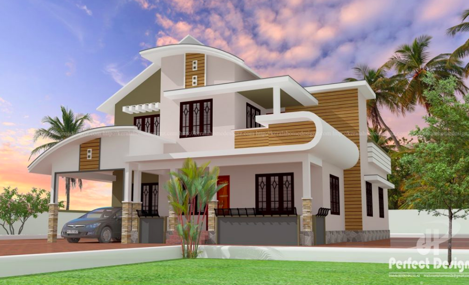 4bhk Bedroom Mixed Roof Home Design House Designs Exterior Modern Bungalow House Modern Bungalow House Design