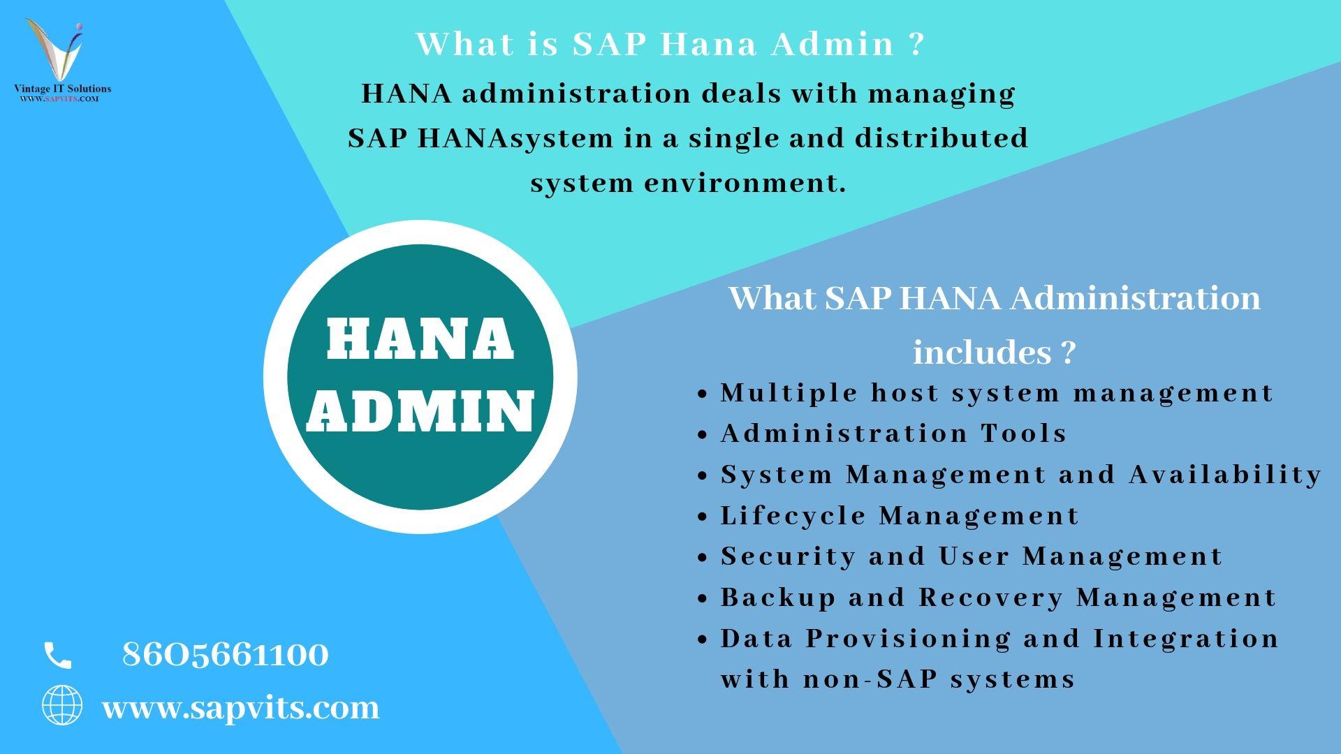 SAP HANA Administration Online Training in Pune, Mumbai, Bnagalore