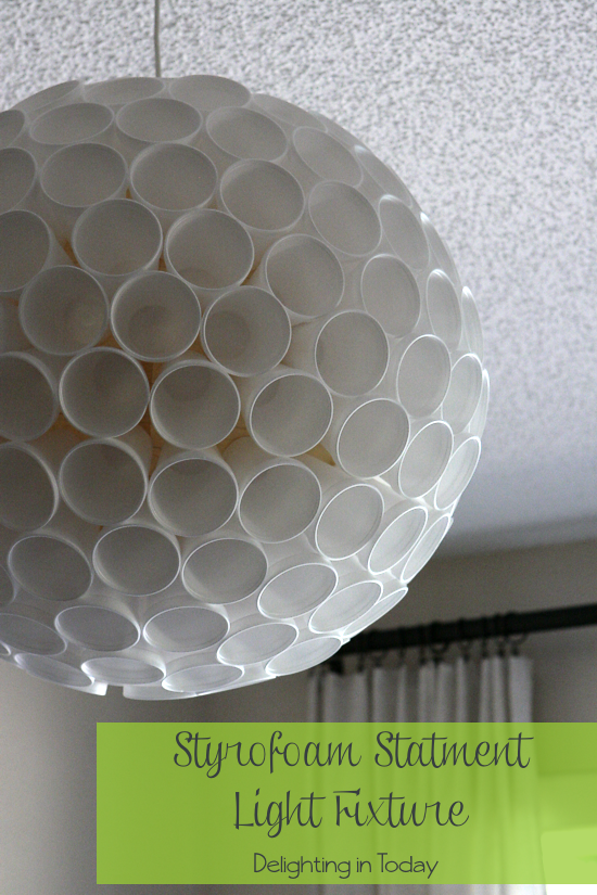 Diy A Statement Light Fixture With Styrofoam Cups