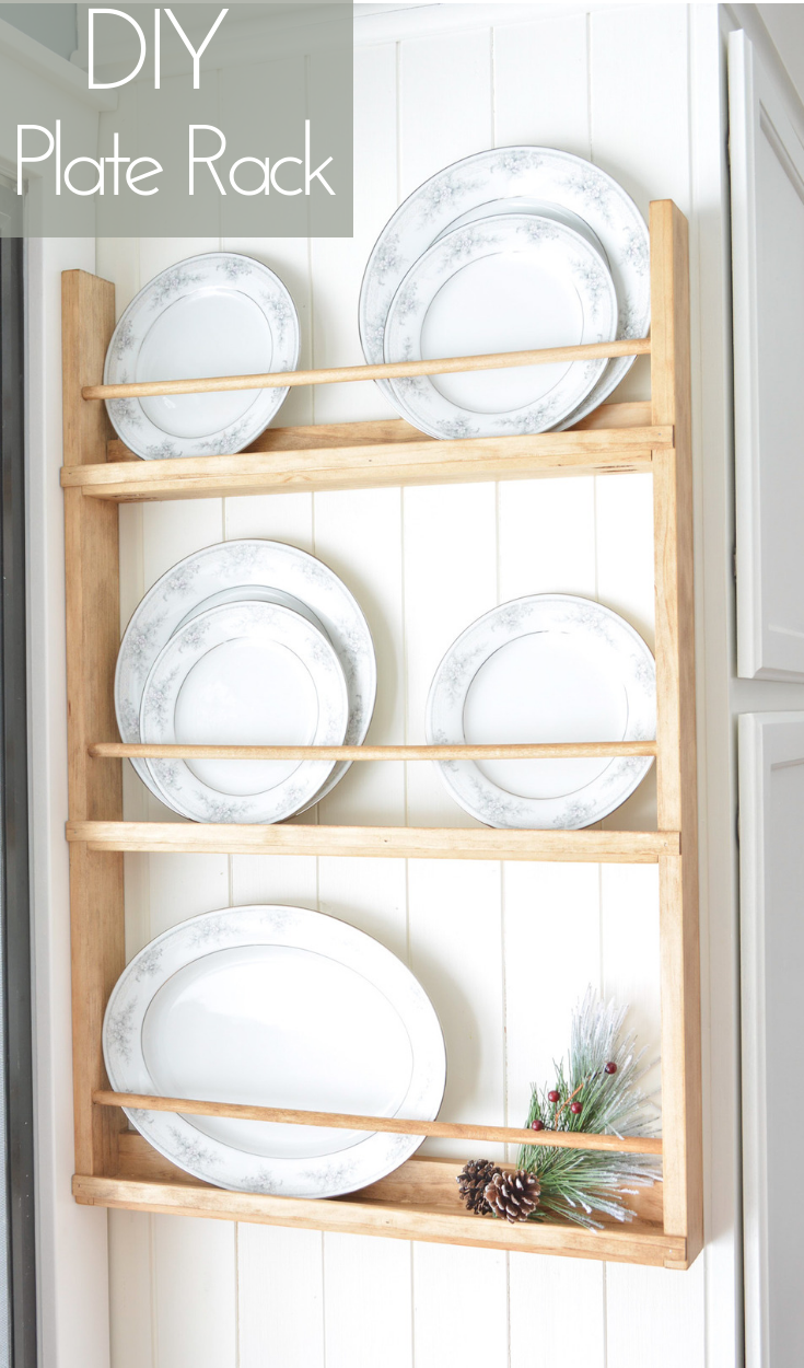 Wooden Wall Plate Rack Diy Plate Rack Plates On Wall Plate Shelves