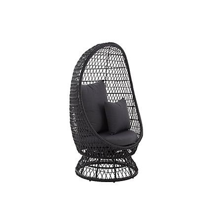 View Anya Rattan Effect Egg Chair From Bu0026q In The Sale.... Getting