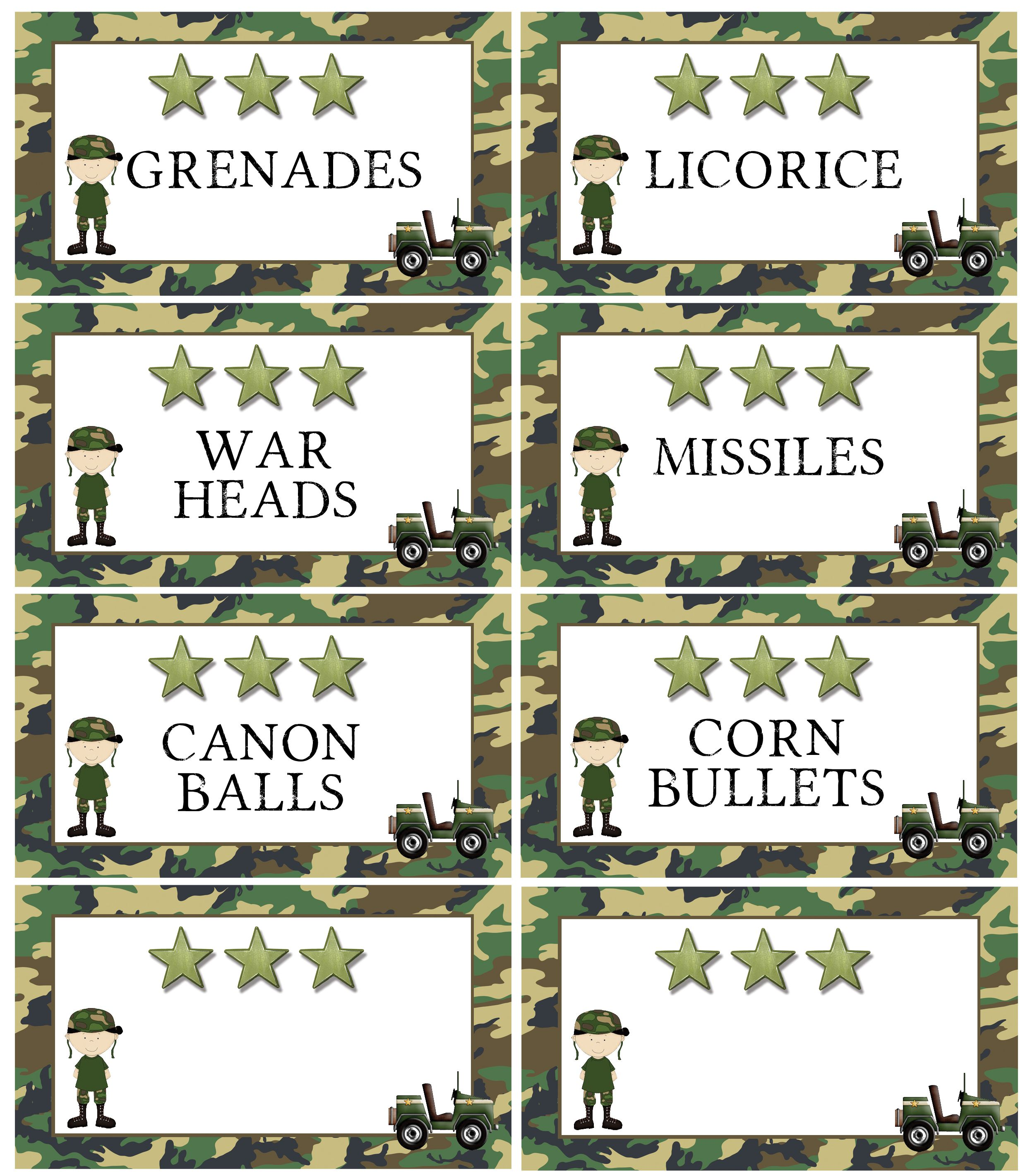 Army Camo Tank Birthday Cake | Free Party Printable – Marvelous ...