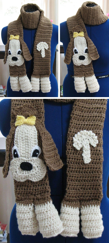 Crochet Pattern - Shih Tzu Scarf Pattern - Dog Theme Gifts - Women\'s ...