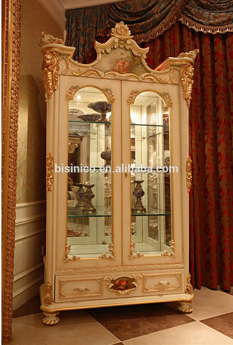 Luxury French Rococo Style Goldleaf Angel Buffet Table Classic Royal Dining Room Wood Carved Hand