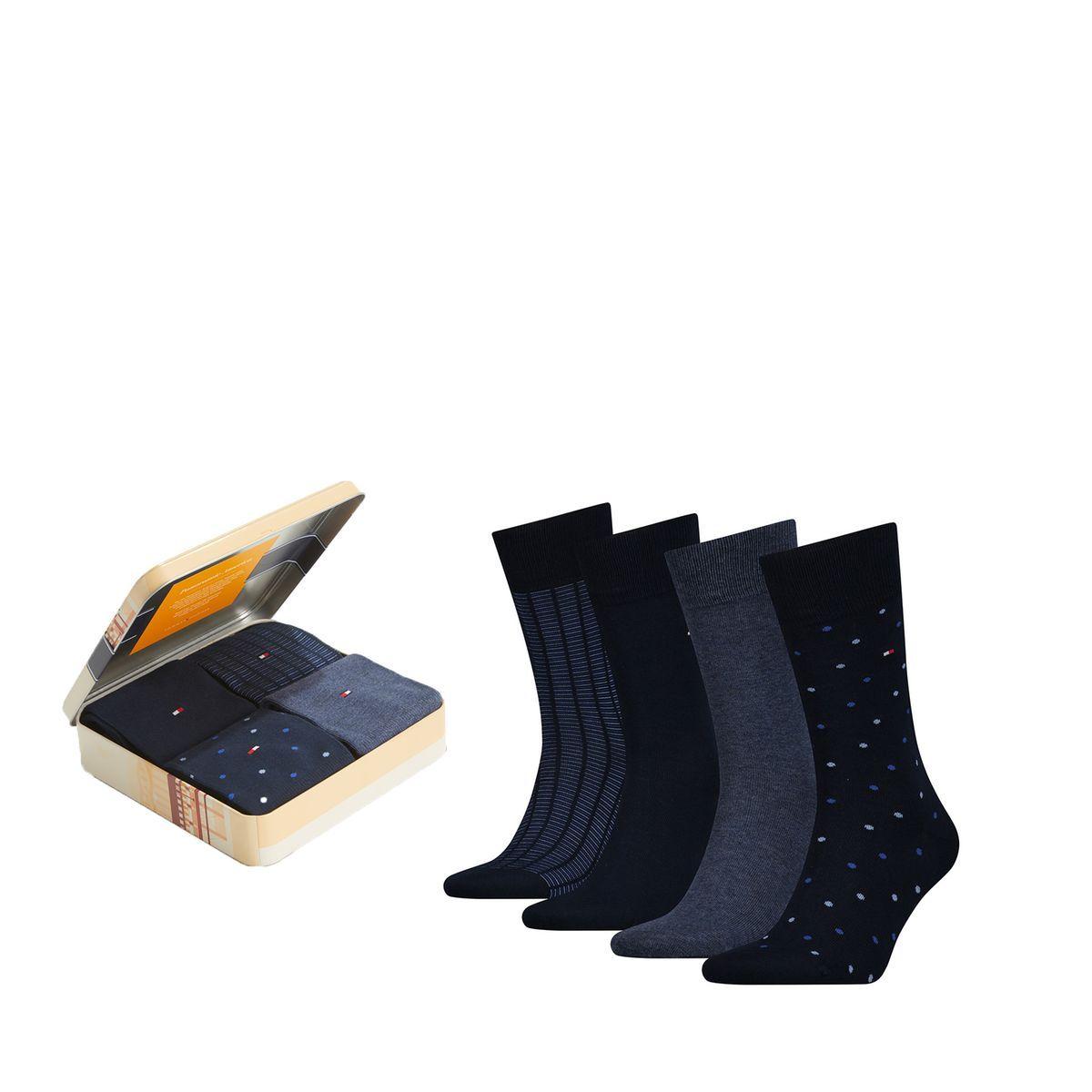 Boite Cadeau Métal, Lot De 4 Paires De Chaussettes Taille