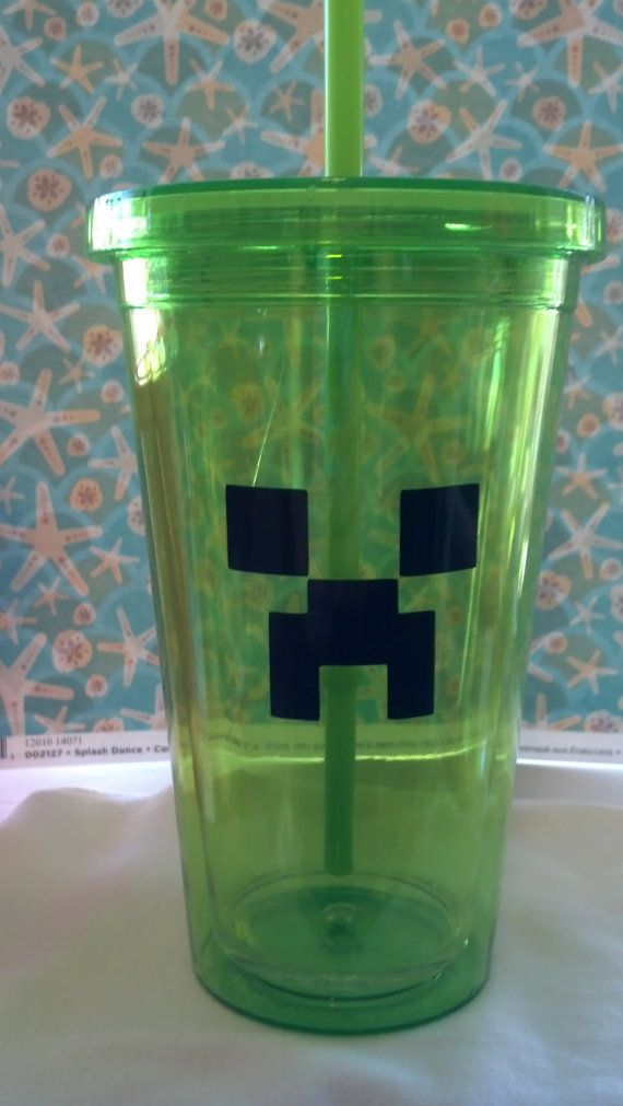 Minecraft Sale Acrylic Tumblers Creeper Cup By
