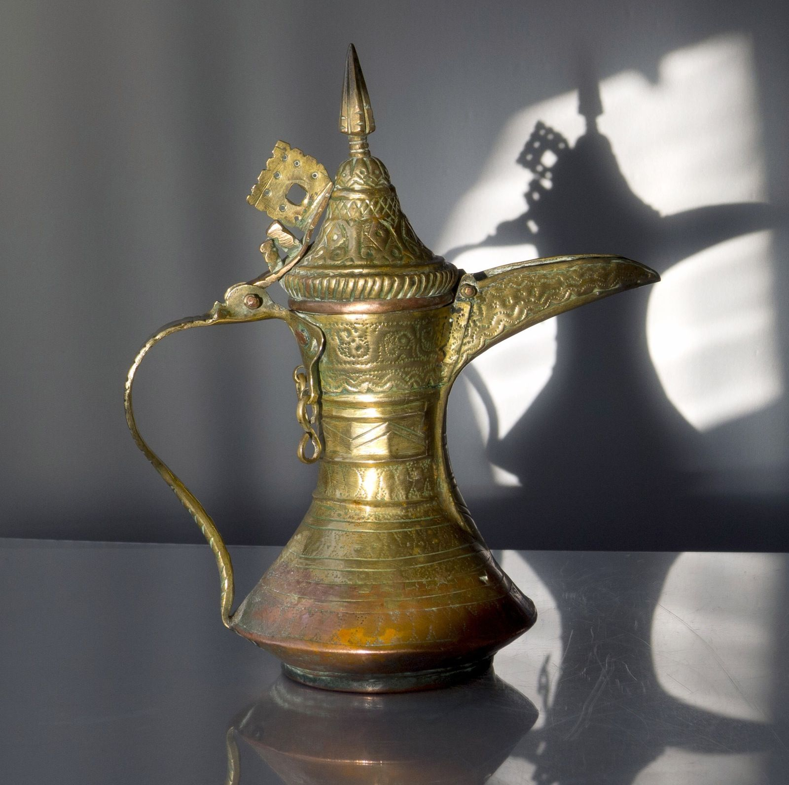 Old Dallah Coffee Pot Gahwa Dallah التحف دلة Coffee Pot Moroccan Decor Coffee