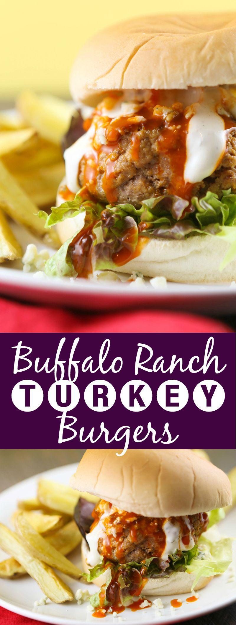 Photo of Buffalo Ranch Turkey Burgers Recipe – pipandebby.com