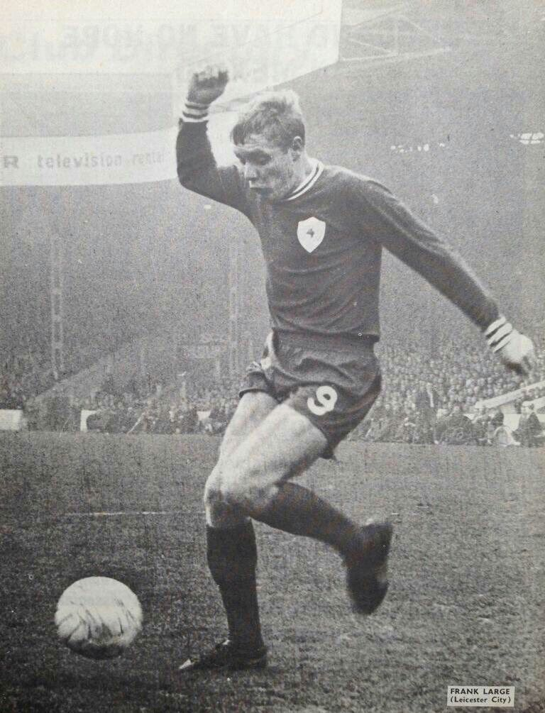 Frank Large of Leicester City in 1968.