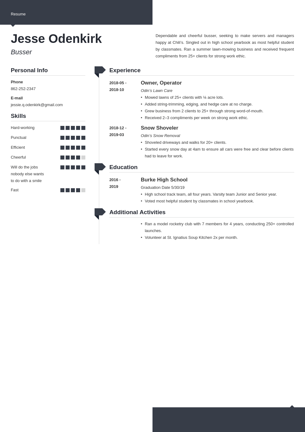 Busser Resume Example Template Modern Job Resume Examples Resume Examples Resume