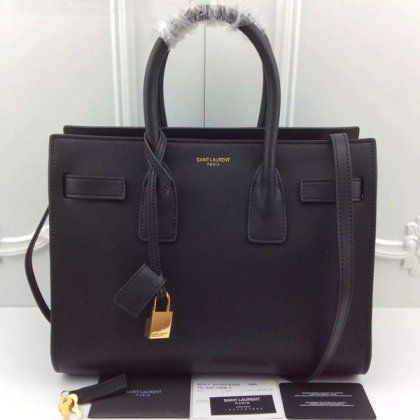6a9ed60ae2 YSL Black Downtown Tote Cow Leather Bags (Replica) #replicabags ...