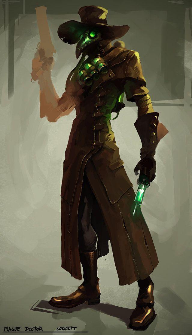 Plague doctor-sketch, Rosko 3Dart