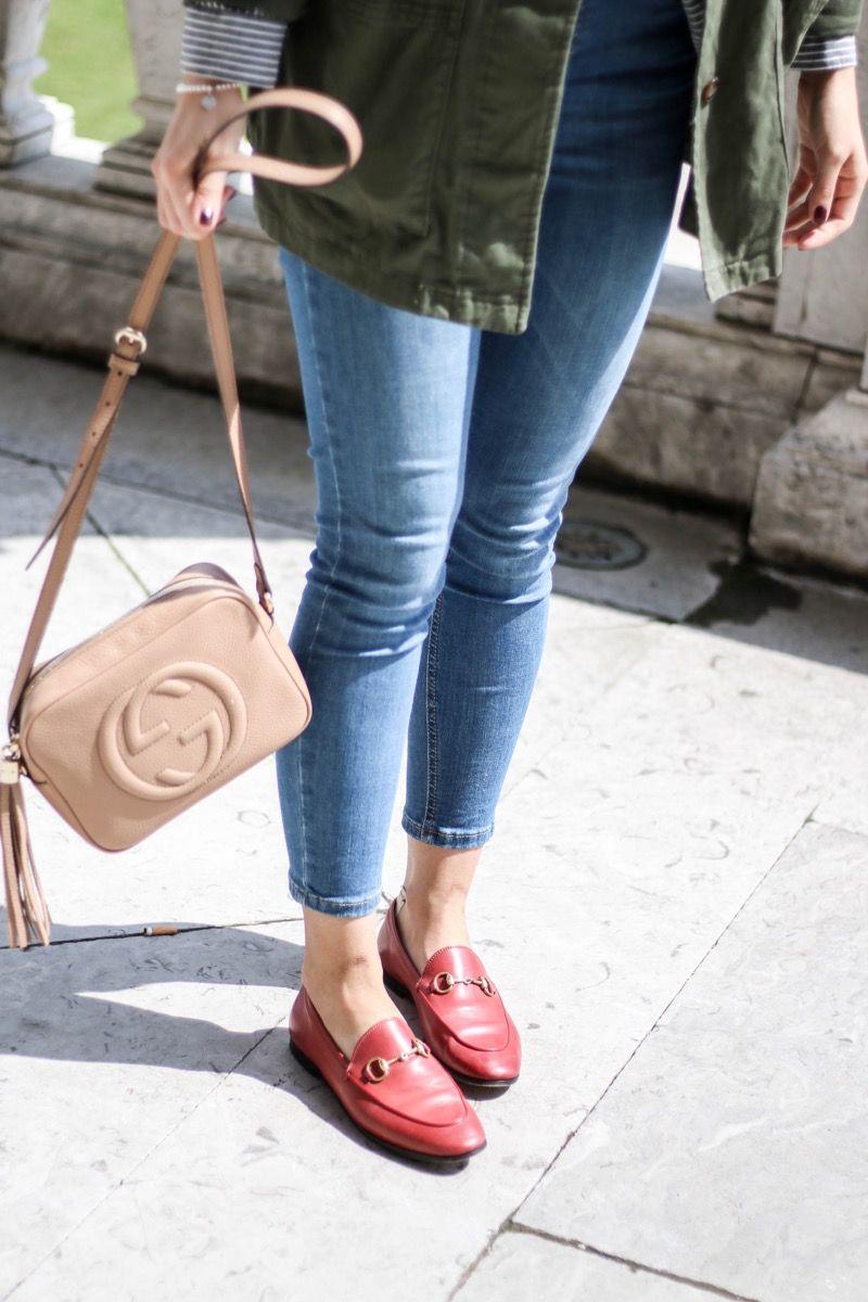 be3da1dbfcd Burggarten  High Waisted Jeans   Gucci Jordaan Loafer