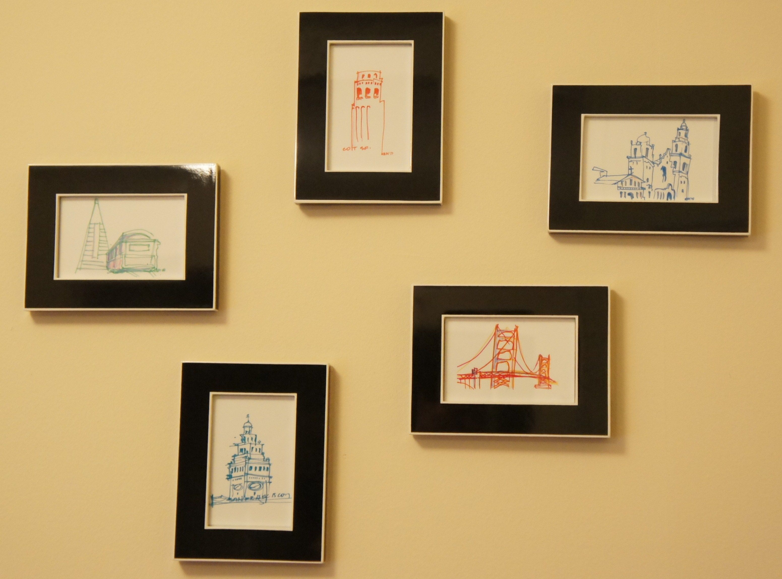 Framed postcards | Wall Decor | Pinterest | Wall collage, Wall ...