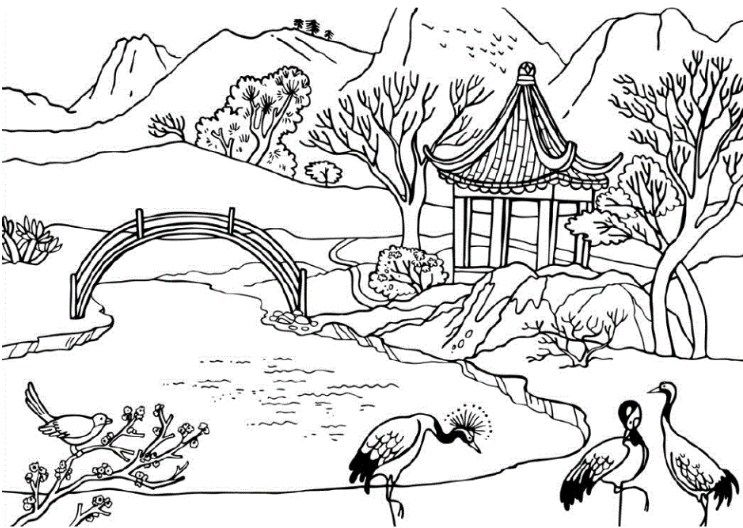 Sketsa Pemandangan Alam Dan Hewan Lukisan Pemandangan Baby