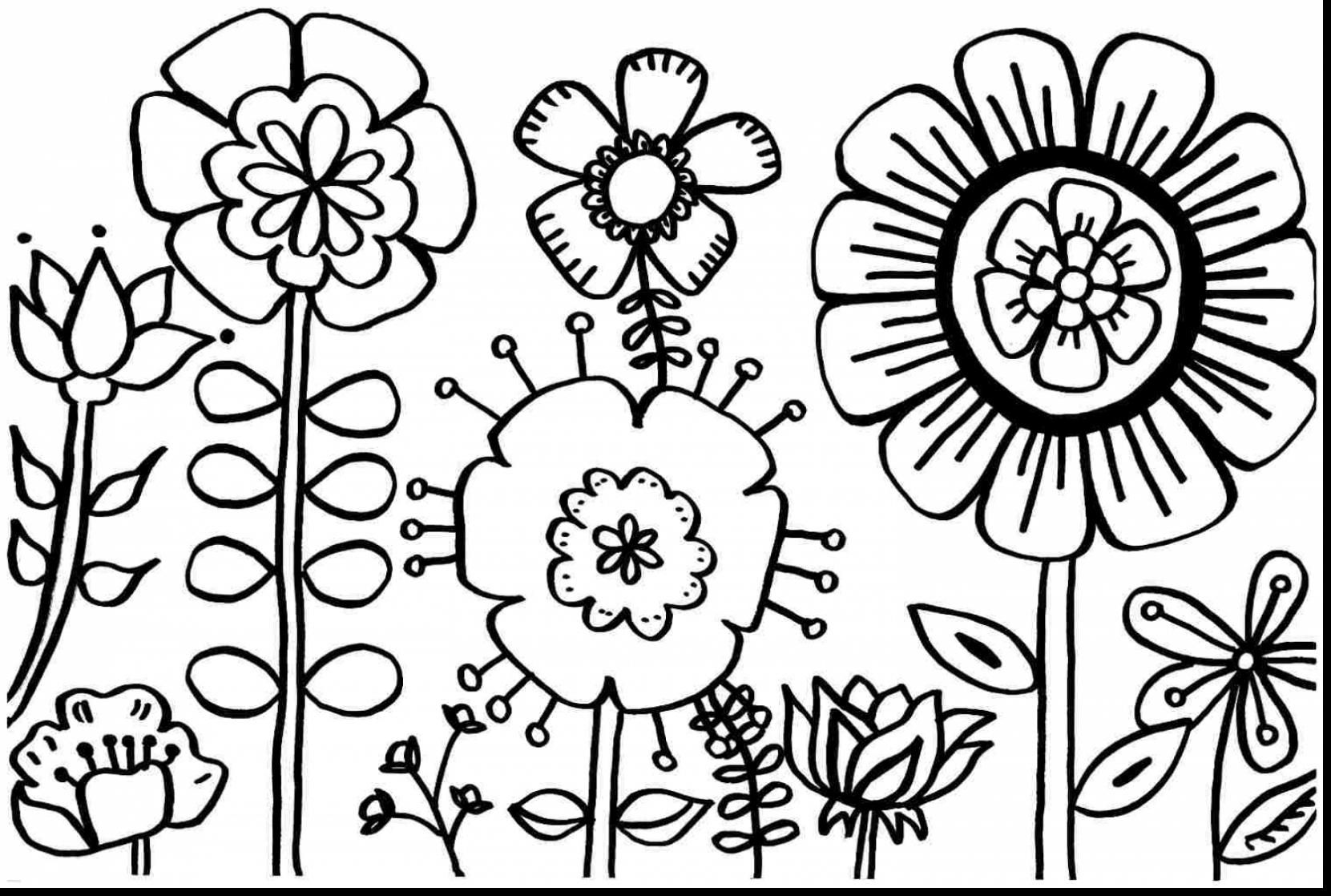 superb spring flower coloring pages printable with spring coloring ...