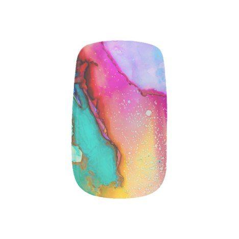 Watercolor Minx Nail Art | Zazzle.com
