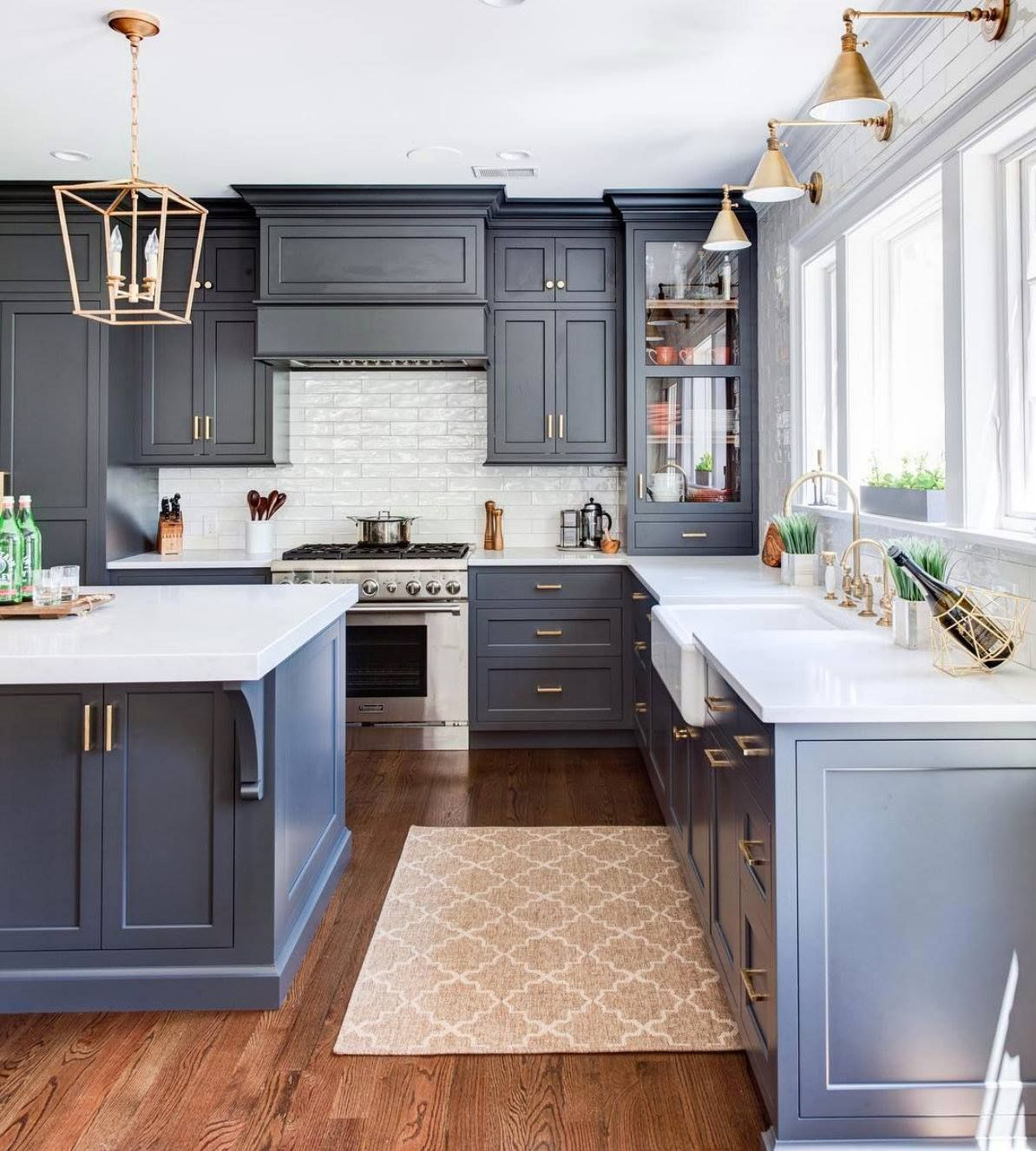 Blue Kitchen Cabinet Cabinet Color Benjamin Moore Wrought Iron Kitchen