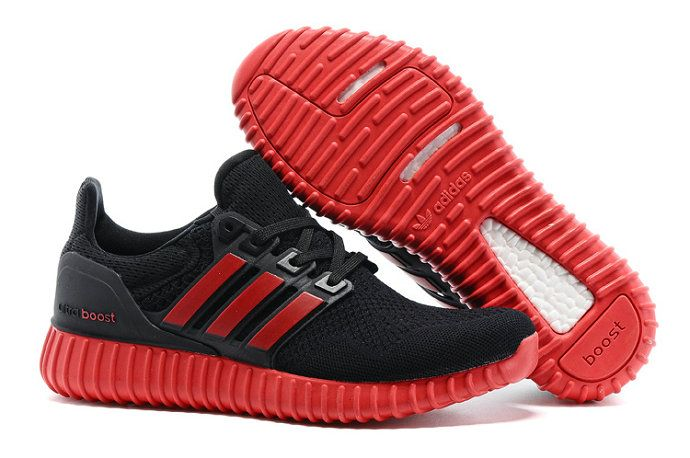 the latest 92b72 f7a65 Adidas Yeezy Ultra Boost 2016-2017 Beckham X Black University Red Gym Red  Sole UK Trainers 2017 Running Shoes 2017