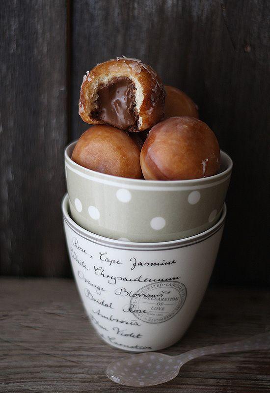 IML, chocolateguru:   Nutella Filled Doughnut Balls