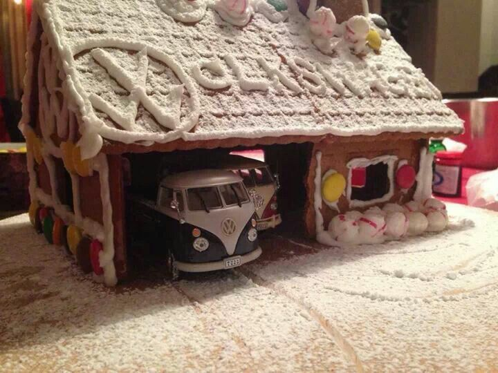 Vw Bus Gingerbread House Das VW Cakes And Cookies Pinterest - Gingerbread house garage