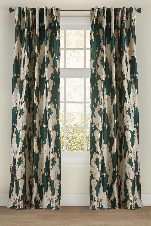 Mariah Abstract Room Darkening Rod Pocket Single Curtain Panel Panel Curtains Curtains Custom Drapery Panels