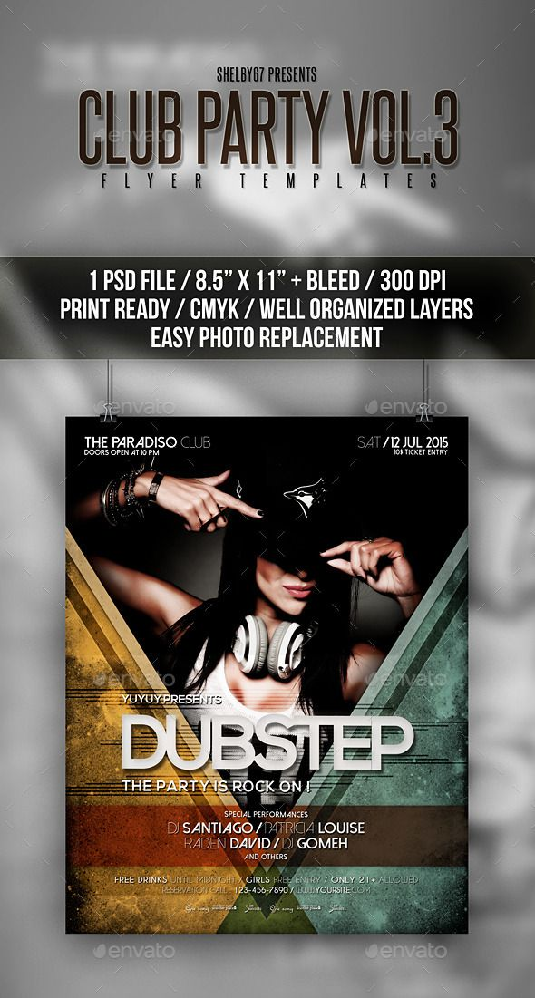 Club Party Flyer Poster Vol 3 Party Flyer Club Parties And Template