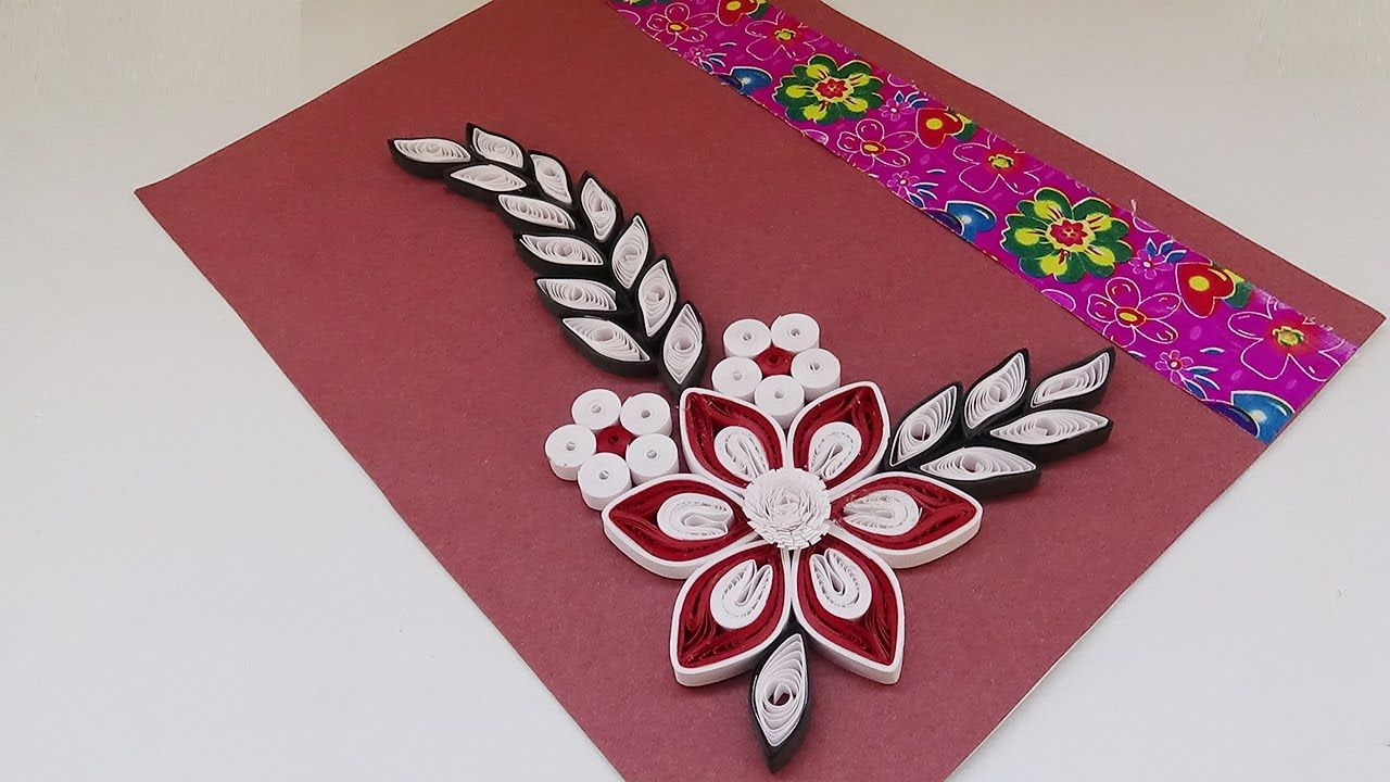 Quilling card how to create  simple quilled birthday paper art youtube also rh pinterest