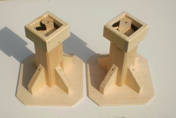 12 Inch Bed Risers All Wood Construction By Odyssey359 On Etsy