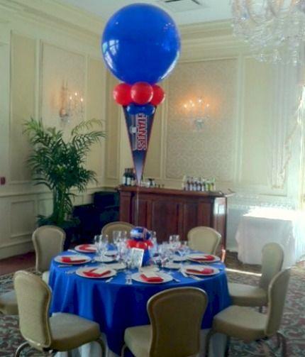 Giants football bar mitzvah party theme balloon