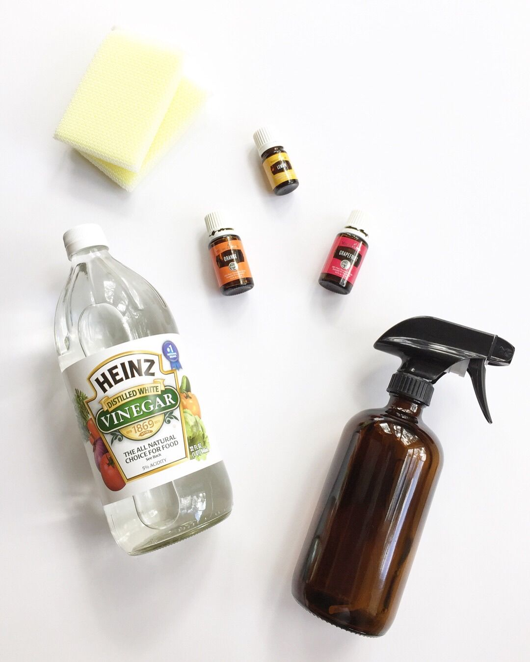 All purpose cleaner with grapefruit orange and lemon