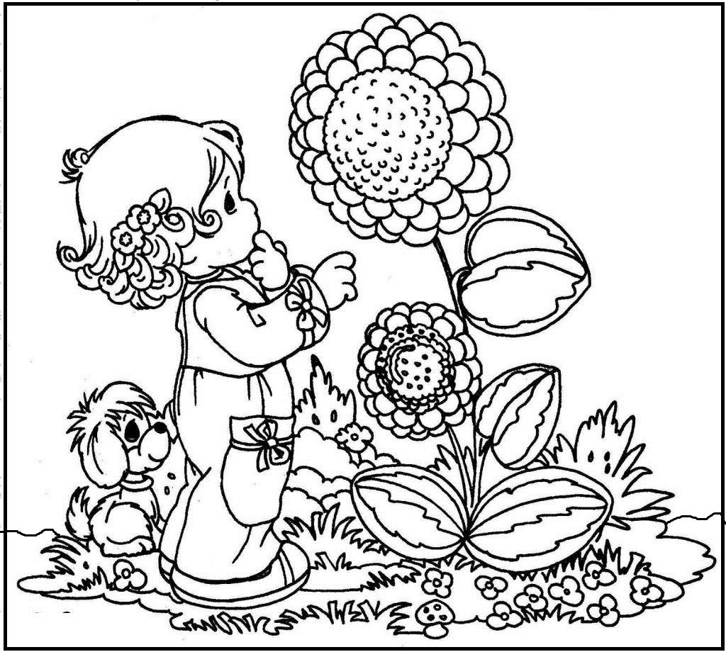 animals happy spring day coloring picture for kids spring