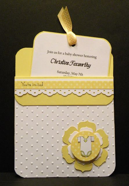 Baby Shower Pocket Invitations By Paper Perfect Designs Pockets Are Easy To Make With Cardstock And Will Your Invitation So Adorable