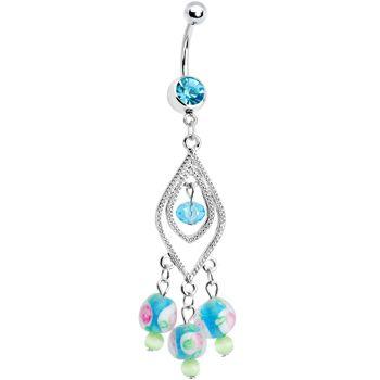 699 aqua gem anastasia chandelier belly ring body jewelry of 699 aqua gem anastasia chandelier belly ring mozeypictures Gallery