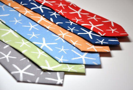 Nautical Neckties | Starfish Collection  ETSY $22.95