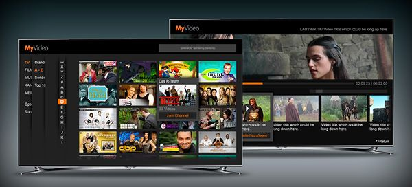 A Smart TV design suggestion for a German TV content