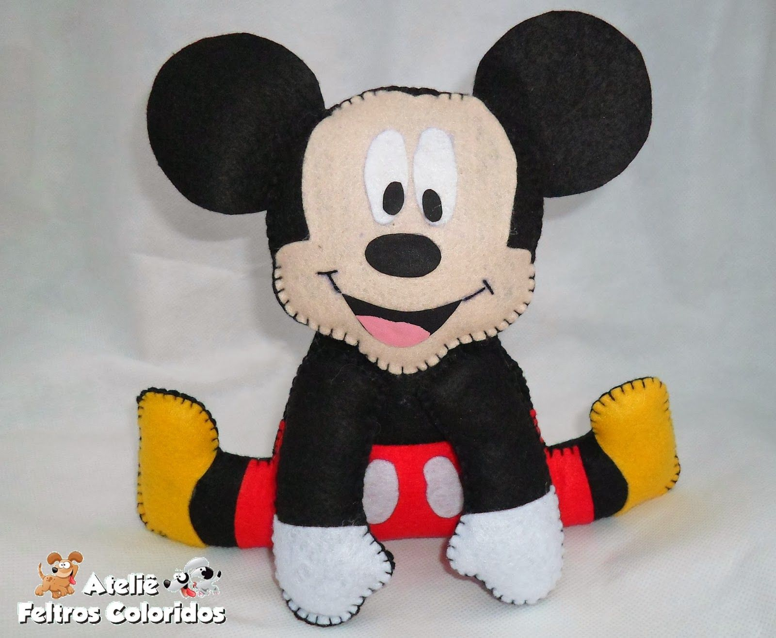 Ateliê Feltros Coloridos: Mickey e Turma Enfeite Centro de mesa