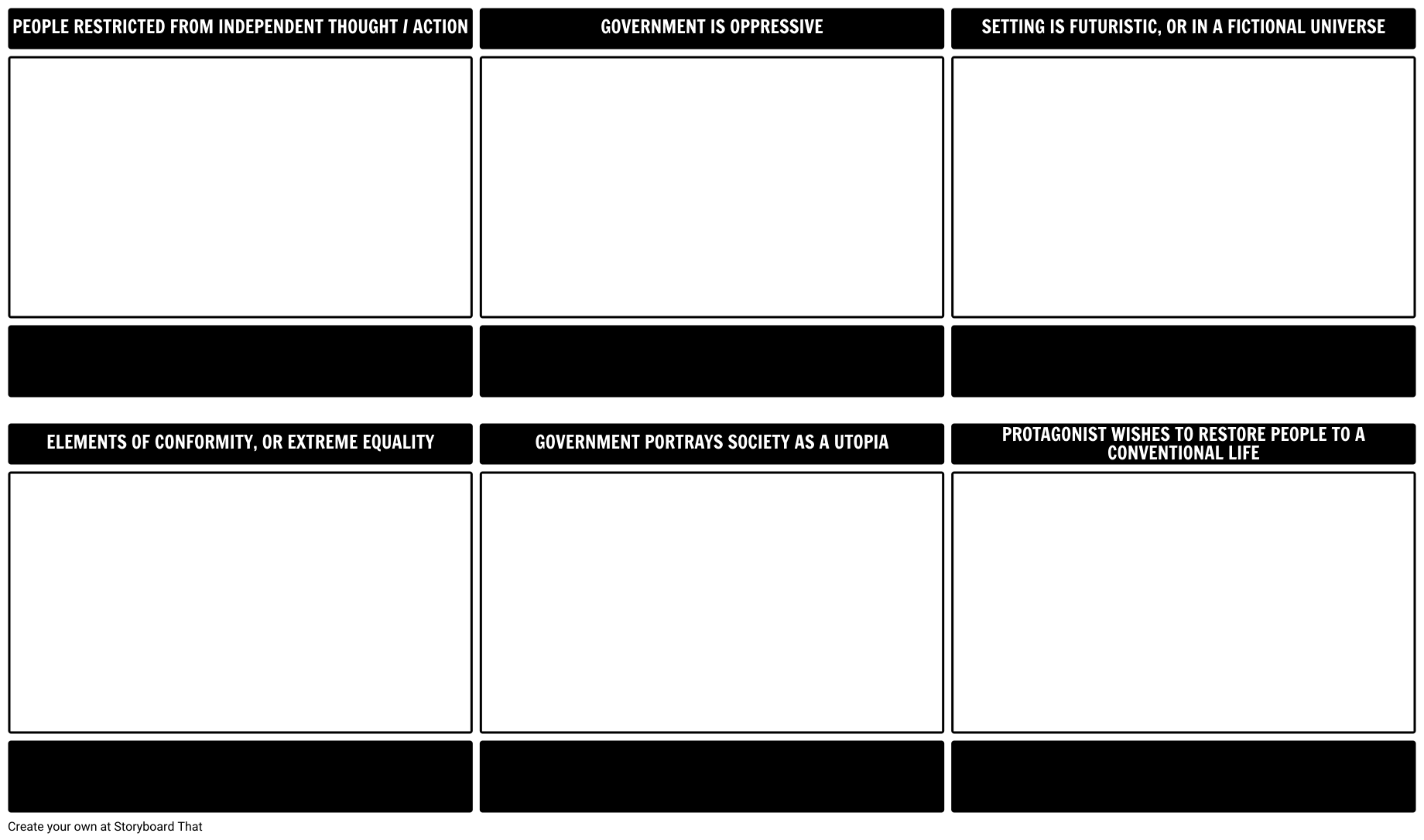 Create A Storyboard Template Or Graphic Organizer Template