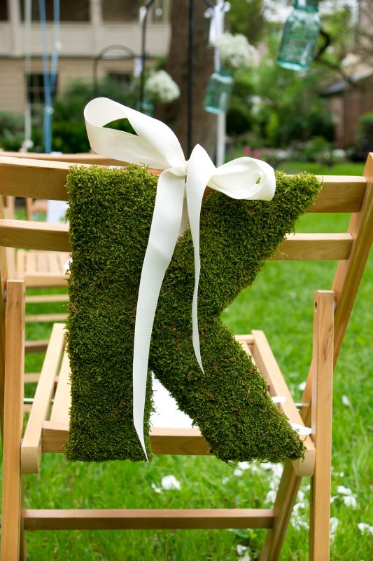 Moss Covered Letters Classy Moss Covered Letters & In The Background Babys Breath In Mason Decorating Design