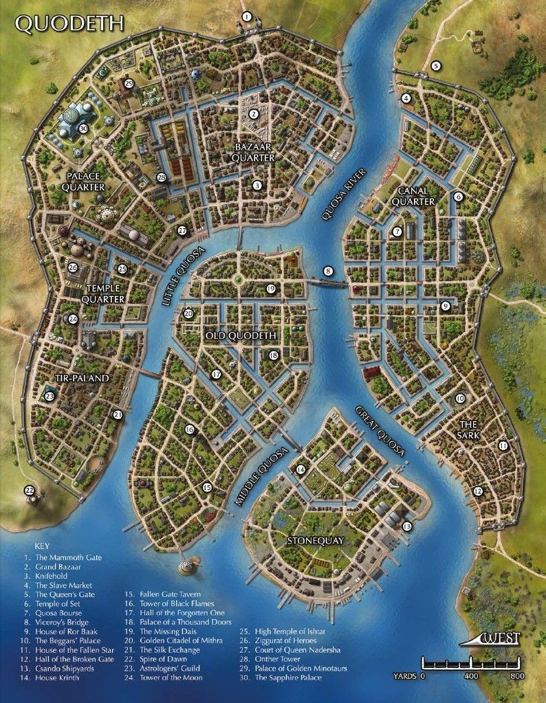 map of the city of quodeth maps fantasy city map