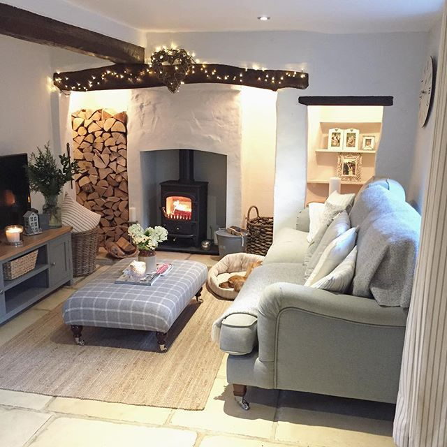 Happy Friday Fires Already Lit Preparing To Cosy Up For The Evening As It S Going To Be A Really Chill Cottage Living Rooms Cottage Lounge Cosy Living Room