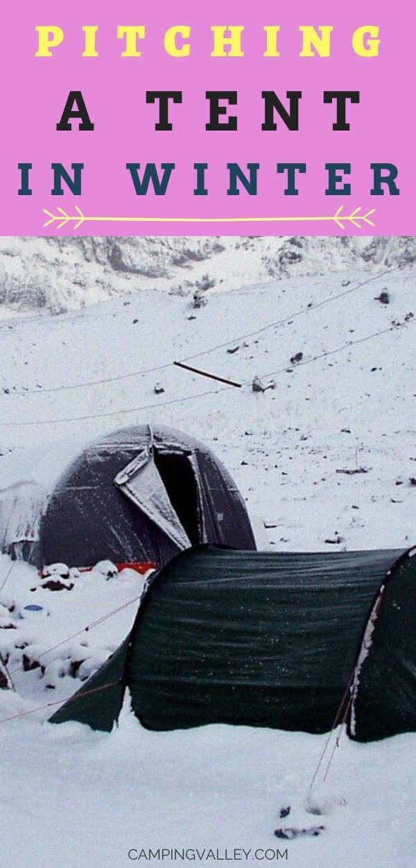 Photo of Pitching A Tent In Winter