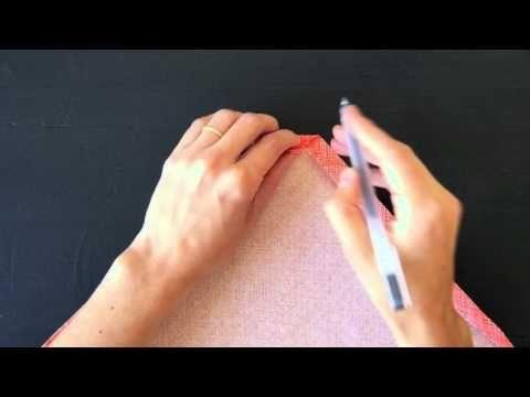 Sewn Mitered Corners - YouTube