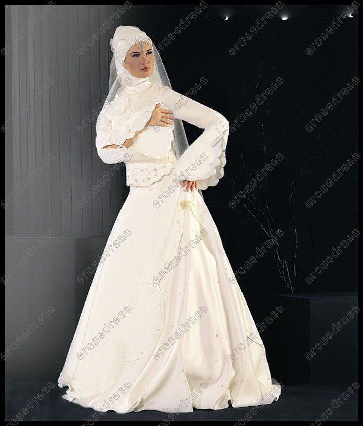 Aliexpress Com Buy Chic Long Sleeve High Neck Designer Muslim Wedding Gown Wd M014 From Relia Muslim Wedding Dresses Muslim Wedding Gown Muslim Wedding Dress,Short White Plus Size Wedding Dresses