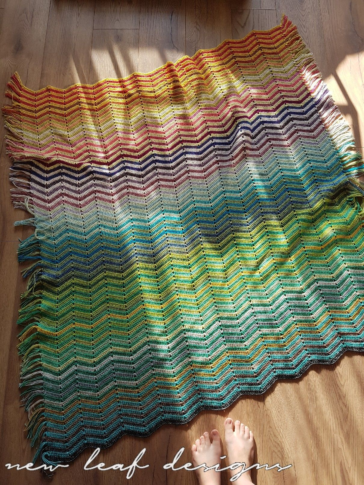 Gratis Haakpatroon Zigzag Deken Crocheted Afghans Lapghans And