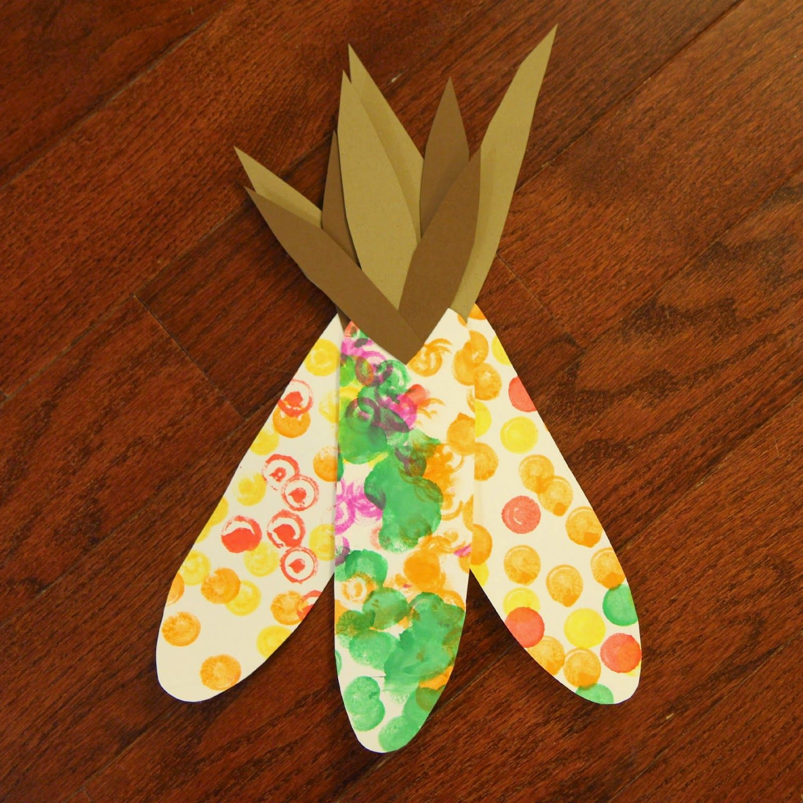 Painted Corn Craft For Toddlers